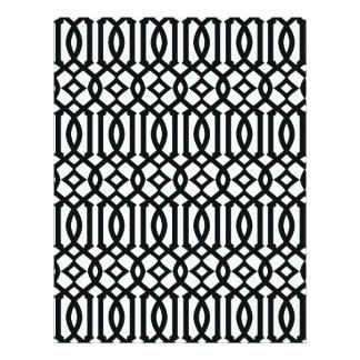Prospectus 21,6 Cm X 24,94 Cm Motif moderne noir et blanc de treillis