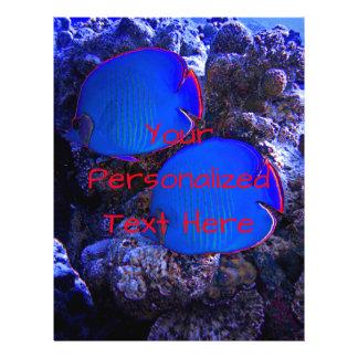 Prospectus 21,6 Cm X 24,94 Cm Natation sous-marine tropicale de poissons dans le