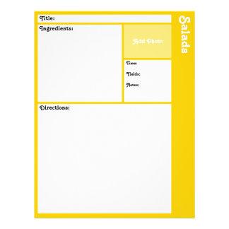 Prospectus 21,6 Cm X 24,94 Cm Pages de recette (jaune)