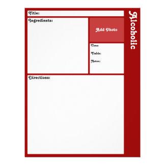 Prospectus 21,6 Cm X 24,94 Cm Pages de recette (rouge foncé)