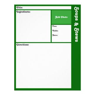 Prospectus 21,6 Cm X 24,94 Cm Pages de recette (vert-foncé)