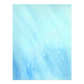 Prospectus 21,6 Cm X 24,94 Cm Peinture bleue d'aquarelle de précipitation