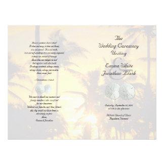 Prospectus 21,6 Cm X 24,94 Cm Programme chrétien de cérémonie de palmiers du