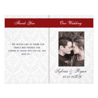 Prospectus 21,6 Cm X 24,94 Cm Programmes se pliants de mariage de photo de