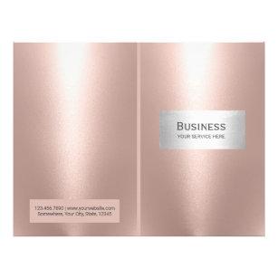 Prospectus 21,6 Cm X 24,94 Cm Salon de maquillage Spa Rose Gold Bi-Fold
