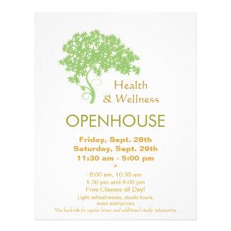 Prospectus 21,6 Cm X 24,94 Cm Santé d'arbre vert et nature holistiques de santé