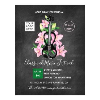 Prospectus 21,6 Cm X 24,94 Cm Tableau classique de festival de musique