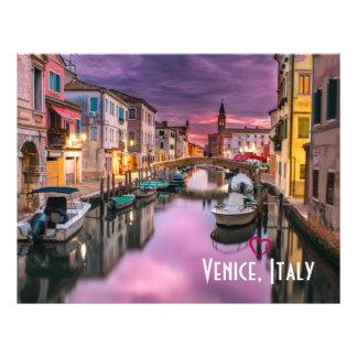 Prospectus 21,6 Cm X 24,94 Cm Venise, canal pittoresque de l'Italie et