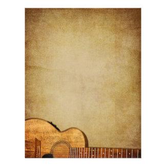 Prospectus 21,6 Cm X 24,94 Cm Verticale grunge de guitare