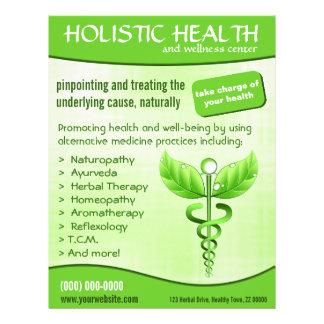 Prospectus 21,6 Cm X 24,94 Cm Verticale holistique de santé de symbole vert de