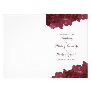 Prospectus 21,6 Cm X 24,94 Cm vin coloré floral - programme de mariage