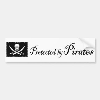 ProtectedbyPirates, adhésif pour pare-chocs Autocollant De Voiture