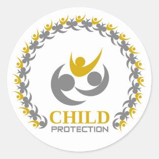 protection de l'enfance sticker rond