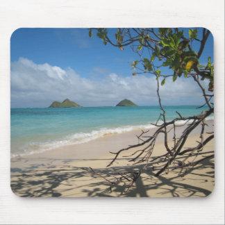 Protection de souris tropicale d'île tapis de souris
