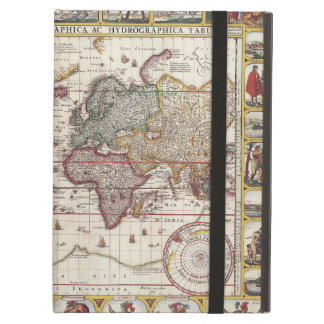 Protection iPad Air 1652 carte du monde, carte du monde d'atlas de mer