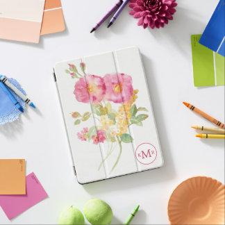 Protection iPad Air Ajoutez votre marguerite blanche du monogramme |