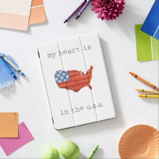 Protection iPad Air | americana mon coeur est dans la carte des