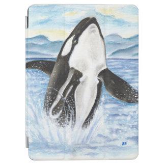 Protection iPad Air Aquarelle ouvrant une brèche la baleine d'orque