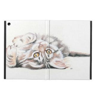 Protection iPad Air Aquarelle tigrée mignonne de chaton de ragondin du