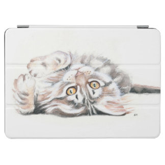 Protection iPad Air Aquarelle tigrée mignonne de chaton de ragondin du