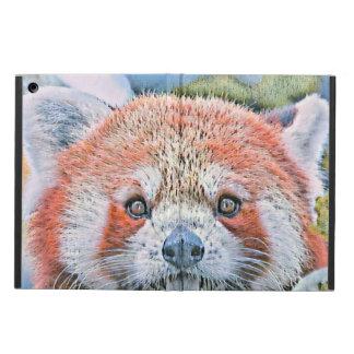 Protection iPad Air Aquarelles - panda rouge