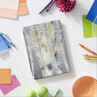 Protection iPad Air Arbres de bouleau sur l'arrière - plan gris 6
