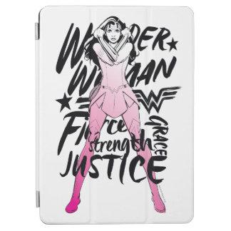 Protection iPad Air Art de typographie de brosse de femme de merveille