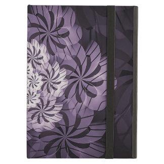 Protection iPad Air Art rayé pourpre floral de fractale, caisse d'air