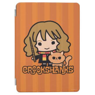 Protection iPad Air Bande dessinée Hermione et Crookshanks