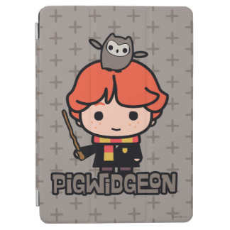 Protection iPad Air Bande dessinée Ron Weasley et Pigwidgeon