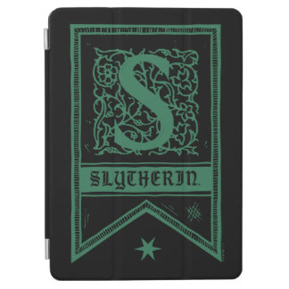 Protection iPad Air Bannière de monogramme de Harry Potter | Slytherin