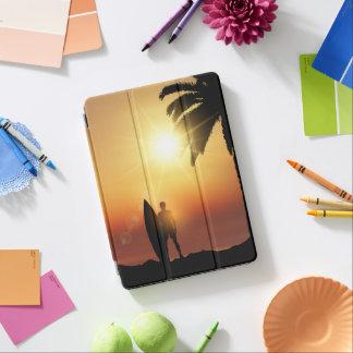 Protection iPad Air Belle caisse tropicale d'air d'iPad de surfer de