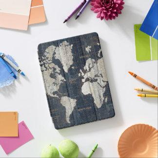 Protection iPad Air Bleu de carte de Vieux Monde
