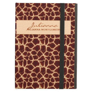 Protection iPad Air Brown riche et copie bronzage de girafe
