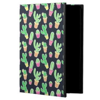 Protection iPad Air Cactus au néon d'aquarelle dans le motif de pots