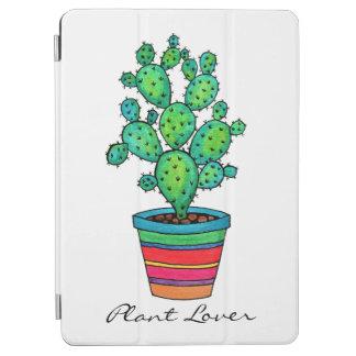 Protection iPad Air Cactus magnifique d'aquarelle dans le beau pot