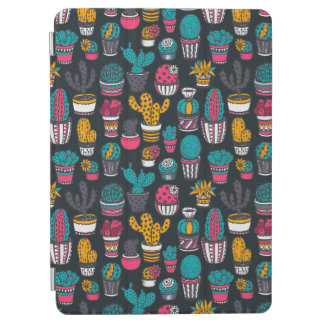Protection iPad Air Cactus tiré par la main dans le motif de style de