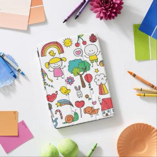 Protection iPad Air Caisse d'air d'iPad du dessin des enfants assortis