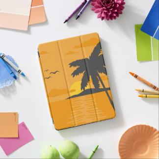 Protection iPad Air Caisse d'air d'iPad orange tropical de coucher du