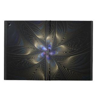 Protection iPad Air Caisse noire et argentée d'air d'iPad d'art