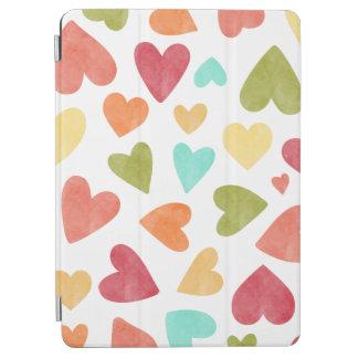 Protection iPad Air Caisse vintage d'air d'iPad de Valentine de coeurs