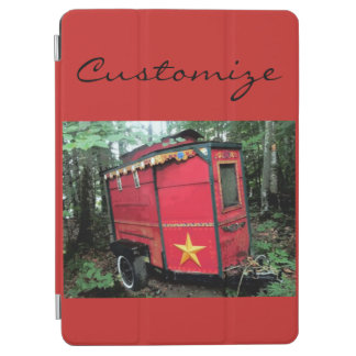 Protection iPad Air Caravane minuscule gitane rouge customisée sur la