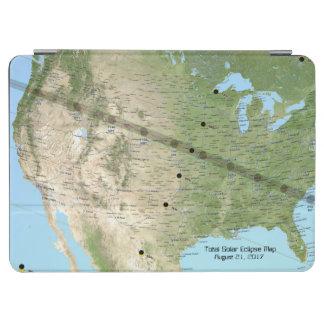 Protection iPad Air Carte totale 2017 de chemin d'éclipse solaire