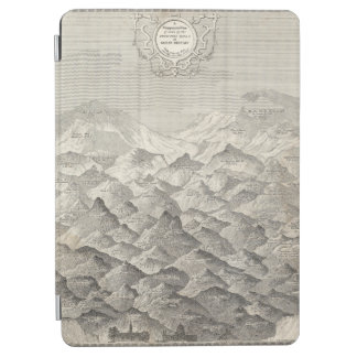 Protection iPad Air Carte vintage des collines et des montagnes au R-U
