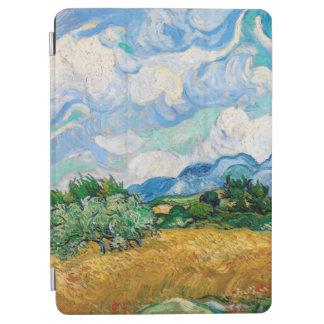 Protection iPad Air Champ de blé avec des cyprès par Vincent van Gogh
