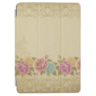 Protection iPad Air chic rustique et minable, floral, roses,