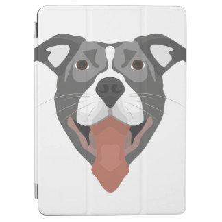 Protection iPad Air Chien Pitbull de sourire d'illustration