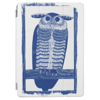 Protection iPad Air Citez le hibou moderne dans le bleu