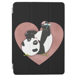 Protection iPad Air Coeur mignon d'ours panda pour des amoureux des