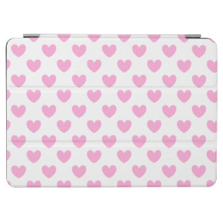 Protection iPad Air Coeurs de polka de rose de sucrerie de coton sur